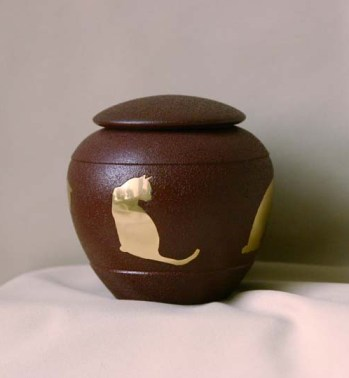 Sienna Silhouette Cat Pet Urn from Hindman Funeral Homes, Inc.