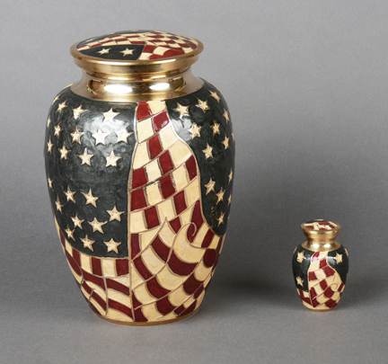 Old Glory Urn from Hindman Funeral Homes