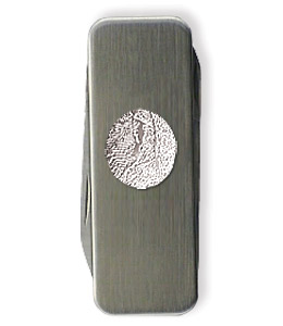 Stainless Steel Thumbprint Money Clip from Hindman Funeral Homes, Inc.